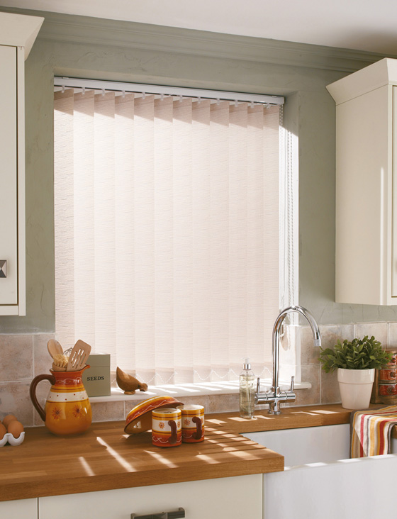 Vertical Blinds for Kitchen - Collette Natural
