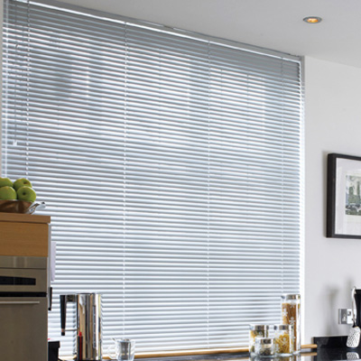 Aluminium Veneian Blinds - Mid Grey